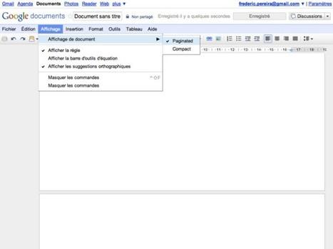 Google Docs : la pagination est arrivée chez nous ! | Fredzone | La formation à distance | Scoop.it