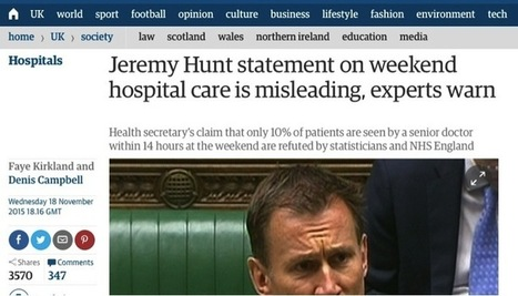 Jeremy Hunt, the Guardian, and the importance of getting the stats right | Understanding Uncertainty | Risk and Uncertainty: measurement, management and understanding | Scoop.it