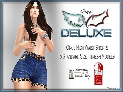 Once High Waist Shorts June 2016 Group Gift by Angel DELUXE | Teleport Hub - Second Life Freebies | Second Life Freebies | Scoop.it