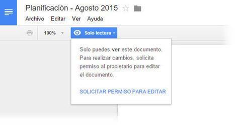 Ahora es más fácil solicitar cambios en los permisos de archivos compartidos en Google Drive | Recull diari | Scoop.it