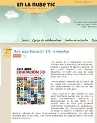 Revista Educación 3.0, tecnología y educación: recursos educativos para el aula digital » Gran aceptación de la Guía apps Educación 3.0 entre docentes y familias | Edu-Recursos 2.0 | Scoop.it