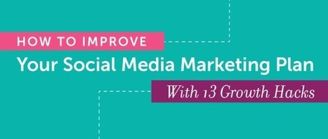 How to Improve Your Social Media Marketing Plan With 13 Growth Hacks | digital marketing strategy | Scoop.it