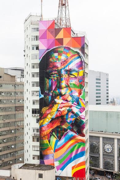 Invisiblemadevisible — UK Street Art & Culture: Eduardo Kobra's Niemeyer Tribute   I Love Street Art   Scoop.it