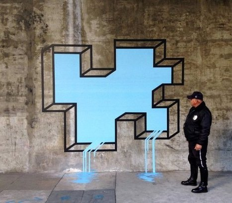 Playful And Interactive Geometric 3D Street Art Created With Neon Tape | Web & Graphic Design - Inspirational resources and tips!!! | Scoop.it