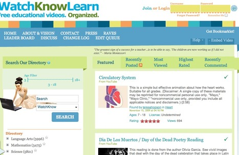 WatchKnowLearn - Free Educational Videos for K-12 Students | Video for Learning | Scoop.it