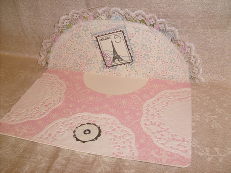 Large Button & String Envelope Fancy Floral Rose with Lace ~ Welcome to Chan4Crafts | How to do Crafts | Scoop.it