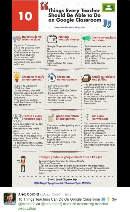 10 Things You Can Do On Google Classroom (Infographic) | Into the Driver's Seat | Scoop.it