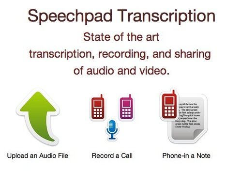 Online Transcription Service Works from Your Files or Straight From Your Calls: Speechpad   Mobile Websites vs Mobile Apps   Scoop.it
