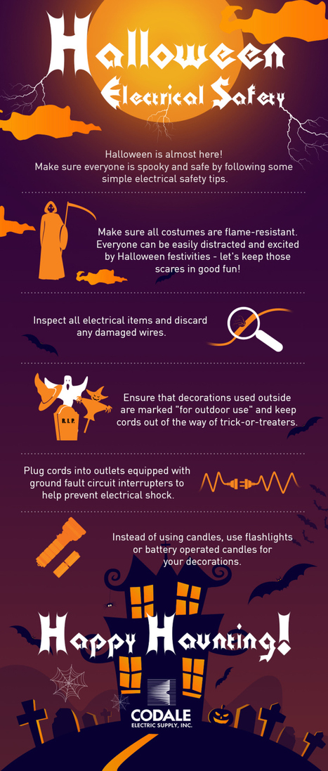 Halloween Electrical Safety Tips - Infographic Online | 911branding | Scoop.it