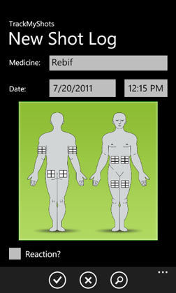Medical Smartphones [part of HCPLive]: A mobile health app for Windows Phone 7: TrackMyShots | healthcare technology | Scoop.it