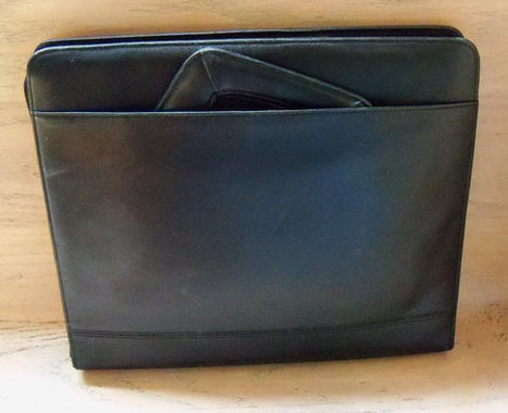 Vintage Briefcase Portfolio Black Leather Gift for Him or Her Birthday Christmas | Vintage Jewelry and Fashions | Scoop.it