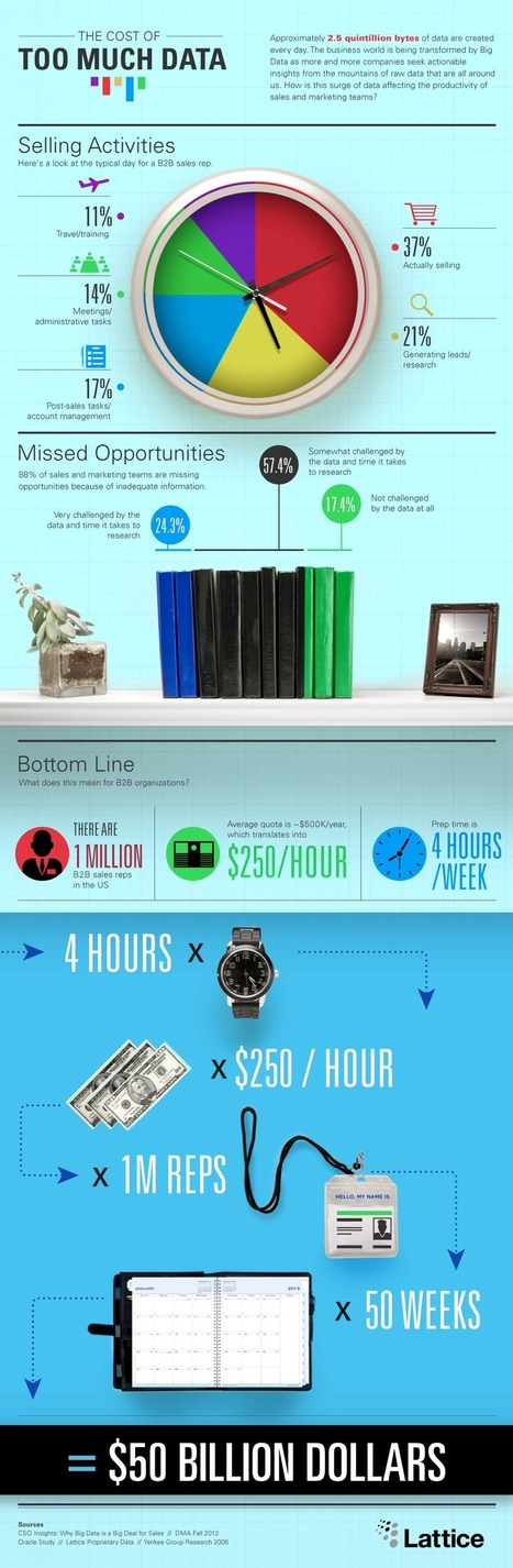 The Cost Of Too Much Data | Infographic | visual data | Scoop.it
