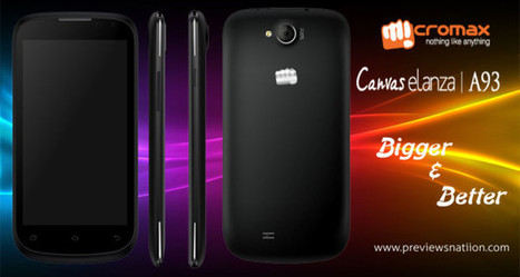 Micromax Canvas Elanza A93 Phone Specification, Features, Price in India | Latest Smartphones | Scoop.it