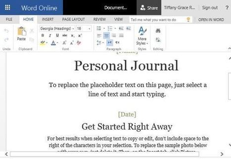 How To Make a Cloud Based Personal Journal in Word   Free Microsoft Word Templates   Scoop.it