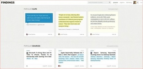 Findings is like Pinterest but for quotes | The Social Media Slant Magazine | Scoop.it
