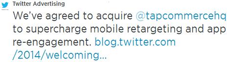 Publicité mobile : le reciblage de TapCommerce séduit Twitter | Actualité de l'E-COMMERCE et du M-COMMERCE | Scoop.it
