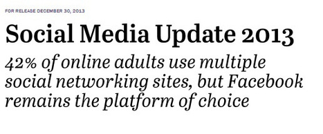 Social Media Update 2013 | Pew Research Center's Internet & American Life Project | Socially | Scoop.it