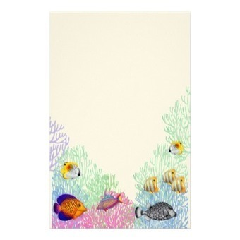 Colorful Coral Reef Life Stationery from Zazzle.com | Artistic Stationery | Scoop.it