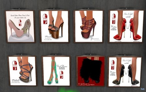8 Shoes For Slink Feet Group Gifts by Hollywood Creations | Teleport Hub - Second Life Freebies | Second Life Freebies | Scoop.it