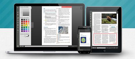 Créez le PDF enrichi sur ordinateurs, tablettes et téléphones portables. | | Design | Scoop.it