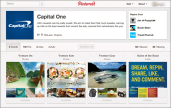 CREDIT CARD FIRMS MAKE THEIR DEBUT ON PINTEREST | Pinterest | Scoop.it