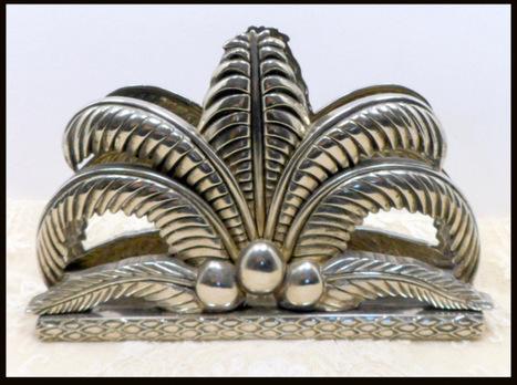 Vintage Figural Silver Plate Napkin Holder Godinger Tropical - The Vintage Village | Vintage Passion | Scoop.it