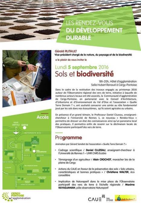 Prochain rendez-vous du développement durable : sol et biodiversité | Environnement, paysage et biodiversité | Scoop.it