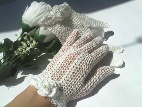 Wedding Gloves Victorian Style, Crochet Lace Gloves,  Rustic Wedding, Victorian Style Wedding | Crochet Miracles Shop on Etsy | Scoop.it
