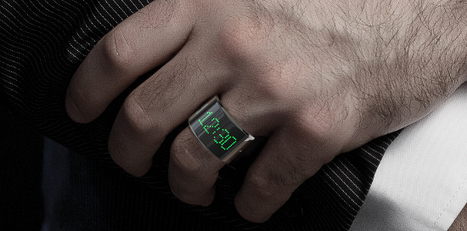 The first smartring has an LED screen, tells time, and accepts calls | Post-Sapiens, les êtres technologiques | Scoop.it