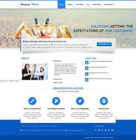Avatar Nine, Free Joomla Minimal Corporate Portfolio Template | Premium Download | Premium Joomla Templates Download | Scoop.it