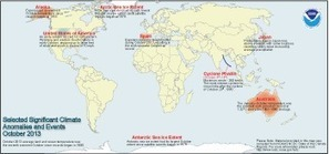 Global Analysis - October 2013   State of the Climate   National Climatic Data Center (NCDC)   Sustain Our Earth   Scoop.it