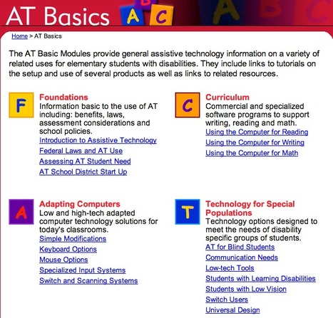 ATTO: Assistive Technology Basics | Better teaching, more learning | Scoop.it
