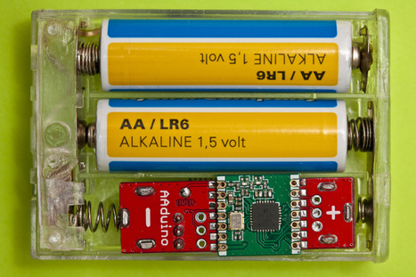 Mad scientist shrinks Arduino to size of an AA battery | Open Source Hardware News | Scoop.it