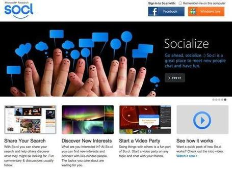 The Microsoft's New Social Network: So.cl | Tecnologie: Soluzioni ICT per il Turismo | Scoop.it