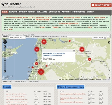 Crisis Mapping Syria: Automated Data Mining and Crowdsourced Human Intelligence – The Ushahidi Blog | OpenSource Geo & Geoweb News | Scoop.it