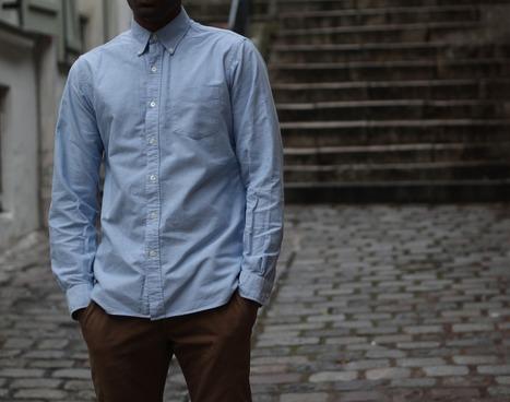 RRL | Blue Oxford Shirt | Men's style | Scoop.it