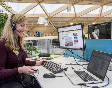 IT strategy: hotdesking - IT at the WWF Living Planet Centre | E-skills Showcases | Scoop.it