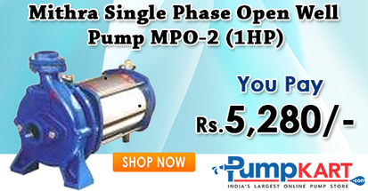 Buy Mithra Single Phase Open Well Pump MPO-2 (1HP) Online | Agriculture pumps | Scoop.it