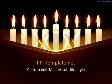 Free Hanukkah PPT Template - PPT Presentation Backgrounds for Power Point - PPT Template | Education PPT Templates | Scoop.it