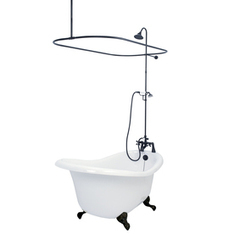 Shop American Bath Factory 59-in x 31-in Chelsea White Round Clawfoot Bathtub with Reversible Drain at Lowes.com | Ashley's Interior Design ideas | Scoop.it