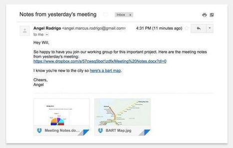DropBox s'intègre mieux à votre Gmail - Les Outils Google | Les outils du Web 2.0 | Scoop.it