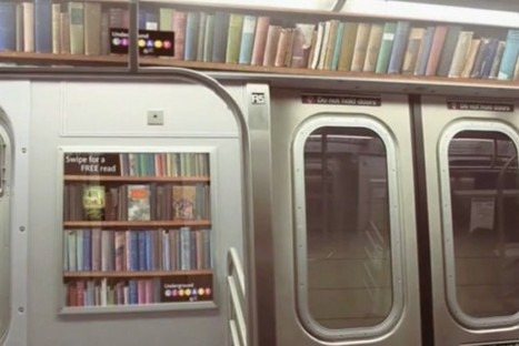 NFC Enabled Library Ads Lets Subway Riders Sample Books [Video] - PSFK | augmented reality examples | Scoop.it