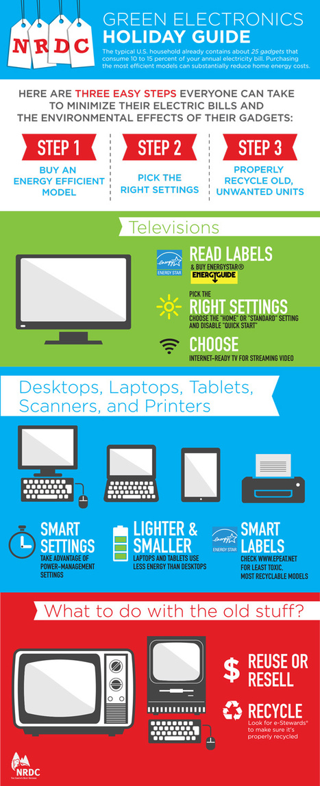 Infographic: NRDC's Green Electronics Holiday Shopping Guide 2013 | green infographics | Scoop.it