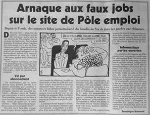Arnaque : de faux jobs ont été proposés sur le site internet de Pôle emploi - Politique.net | Soins de santé | Scoop.it