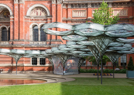 Robotically fabricated carbon-fibre pavilion opens at the V&A | Inspired By Design | Scoop.it