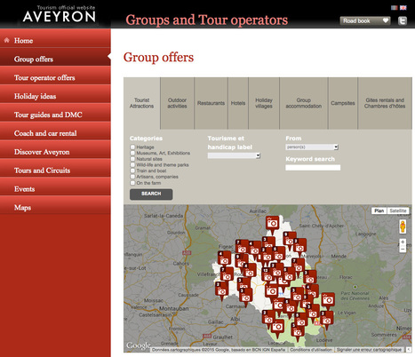 Website dedicated to groups and tour operators in Aveyron | L'info tourisme en Aveyron | Scoop.it