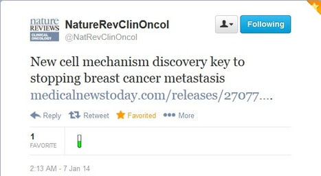 Twitter / NatRevClinOncol: New cell mechanism discovery ... | Science things I learned about on Twitter | Scoop.it