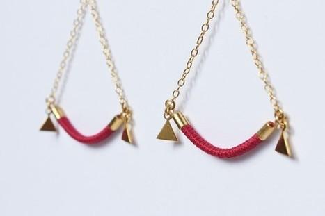 Boucles d'oreilles APOLINE rose framboise dorées à l'or fin 24 carats - Boucles d'oreilles   Suivons la mode   Scoop.it