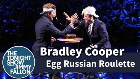 Watch Bradley Cooper Play Egg Russian Roulette With Jimmy Fallon | DailyVideosTV | Scoop.it