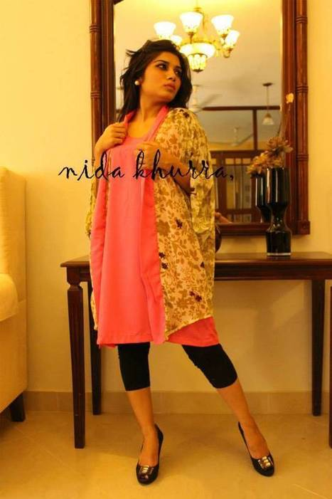 Nida Khurram Pret Fantastic Designs Spring Kurtis 2014   ..:::-StyloStyle.co.uk-:::..   Stylostyle.co.uk   Scoop.it